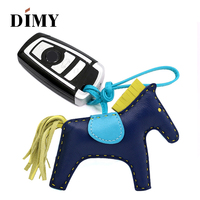 Premium Lambskin Leather Horse Ornament Women's Bag Charm Handcraft Handbag Equestrian Purse Charm Holder Car Decoration Pendant