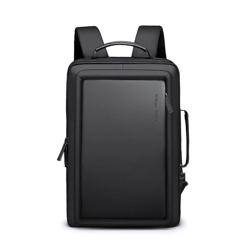 Williampolo Männer Rucksack Reise Rucksack Bagpack Street Fashion Büro Laptop Rucksack mit USB Lade Design Koreanischen Stil-in Rucksäcke aus Gepäck & Taschen bei  Gruppe 2