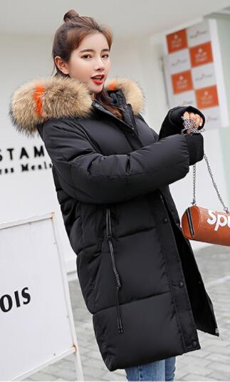 2018 new down jacket cotton long coat winter jacket thick loose cotton coat V32 2017 winter women jacket down new fashion hooded thick warm medium long cotton coat long sleeve loose big yards parkas ladies323