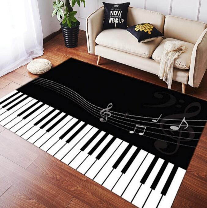 100*200 cm grande taille tapis de salon antidérapant Piano clé tapis garçon fille couloir chambre tapis pour piano salon salle de bain tapis