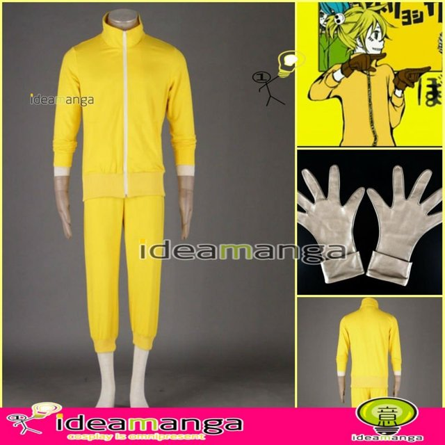 [ideamanga]Manga Amime V+ VOCALOID Matryoshka/Kamui Kagamine Len man's Cosplay Costume male halloween party dress Any Size