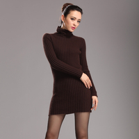 Women S Fashion Sweater Long Section Of Pumping Slim Bottoming Shirt Warm Genuine Mink Cashmere Sweaters