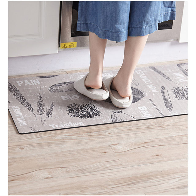 Online Shop XcmXcmXcm Bread Wheat Printed Kitchen - Anti skid flooring material