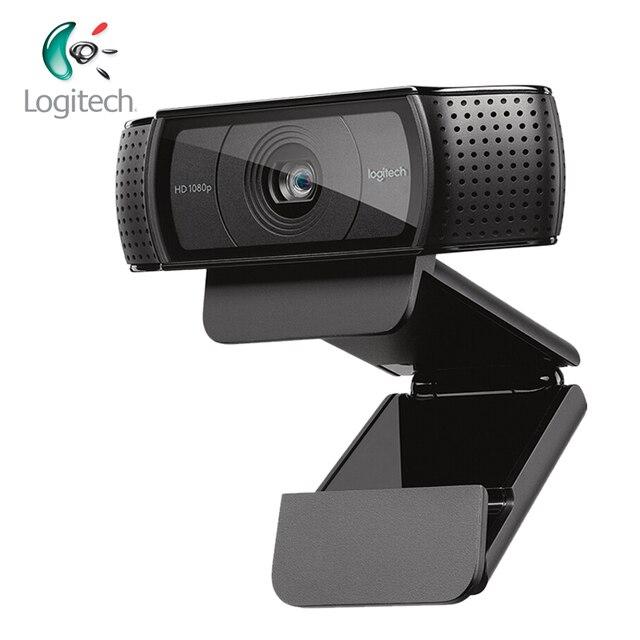 Logitech C920E HD 1080 P เว็บแคมกล้อง Full HD 1080 P วิดีโอสเตอริโอเสียงสนับสนุนอย่างเป็นทางการการตรวจสอบ