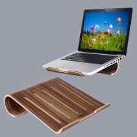 SAMDI Vogue Wooden Laptop Cooling Pad Stand Wood Cooler Holder Bracket Dock Universal for MacBook Air Pro Retina for iPad