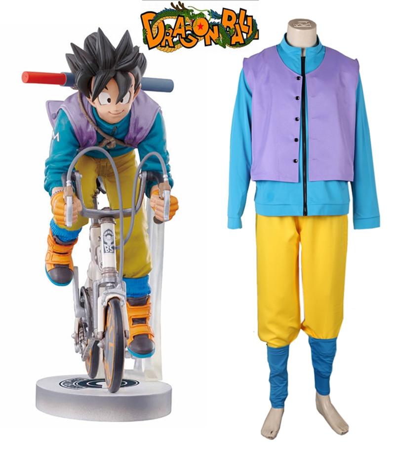 Anime DRAGON BALL Son Goku Kakarotto Bicycle Uniform Cosplay Costume