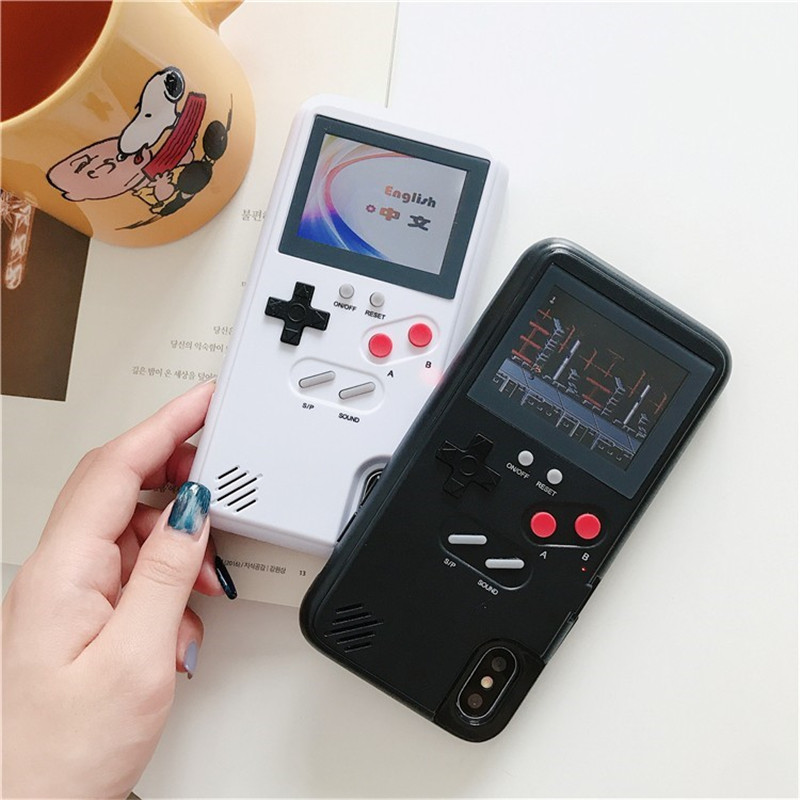 Full Color Display GameBoy Case For Iphone X 6 6s 7 8 Plus Game