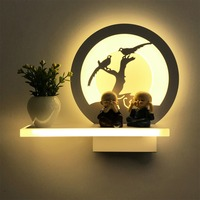 Modern Minimalist Acrylic Iron LED Wall Lamp Flower Vase Romantic Bedroom Balcony Aisle Bedside Lamp Wall Sconces Fixture