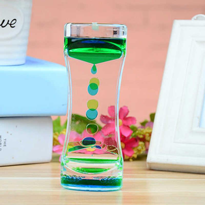 1 pieza de doble Color flotante líquido aceite acrílico reloj de arena líquido movimiento Visual reloj de arena temporizador hogar escritorio Mesa Decoración