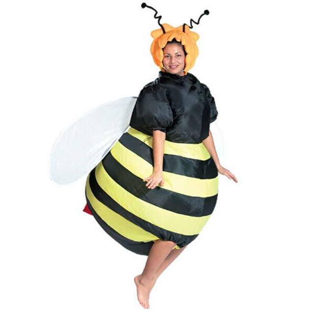 251afa4b1047 Adult bee Inflatable Costume Adult Fancy Dress Suit Party cloth party  costume for adult Christmas Xmas Funny deguisement adultes