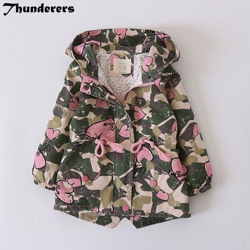 Manteaux Mode Enfants Bébé Veste À Capuche Vêtements pour Bébé Fille Armée Vent Manteau pour Enfants Vêtements À Manches Longues Vêtements D'hiver