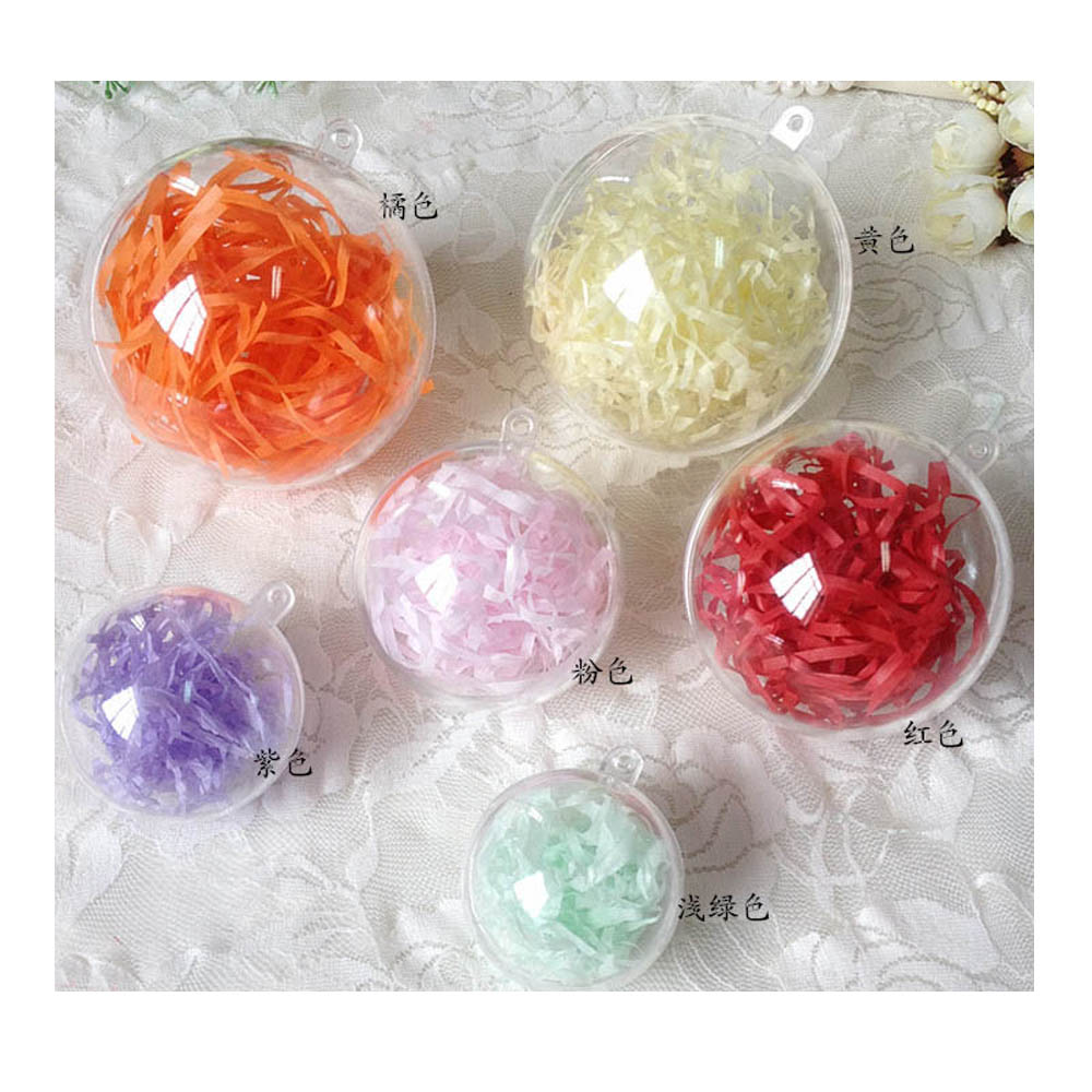 Clear fillable plastic ornaments - Christmas Baubles Clear Fillable Xmas Tree Ball Decoration Ornaments China Mainland