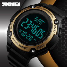SKMEI Digital Watch Mens Watches Fashion Outdoor Sports Electronic LED Clock Male Waterproof Casual Military Men Watch Wrist New mens womens rubber led watch date sports bracelet digital wrist quartz watches men military watch male clock man casual watches