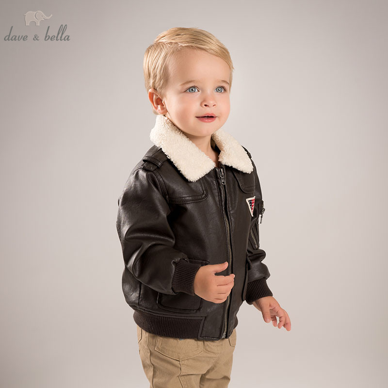 DB5970 dave bella autumn infant baby boys fashion PU Jackets kids toddler dark brown cool coats children hight quality clothes DB5970 dave bella autumn infant baby boys fashion PU Jackets kids toddler dark brown cool coats children hight quality clothes