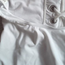 Sexy Monokini Swimsuit One Piece New Style Plus Size Swimwear Women Vintage Bandage One Piece Swimsuit Hot White Bathing Suit