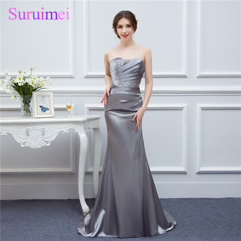 Royal Blue   Evening     Dresses   Silver Gray High Quality Sweetheart Burdundy Champagne Mermaid   Evening     Dress   Women Long   Evening   Gown