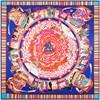 Brand Designer Scarf 130cm 130cm Tibetan Pilgrims Pattern Women Horse Print Silk SCARF Twill Big Square