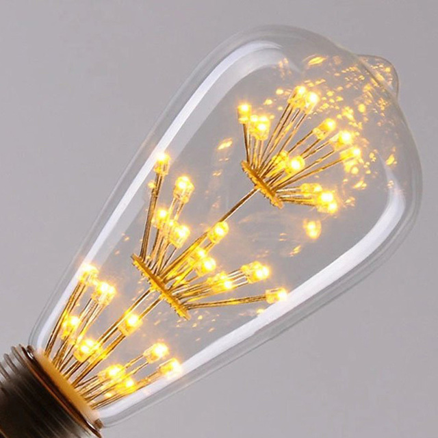 e27 220v 3w led light bulb squirrel cage vintage glass edison style