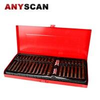 40 PCS S 2 Material Screwdriver Tools Set 3 8 Inch 1 2 Inch Drive Socket