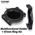 "ZOMEI Filter Holder + 67-67mm Adaptor Ring for Cokin Z-Pro Lee Tiffen Hitech Kood Singh-Ray 4x5"" 4x5.65"" 4x6"" 100x100 100x150 mm"