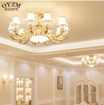 European style living room chandelier modern minimalist living room home hall restaurant bedroom lighting