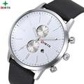 Relojes Hombre 2016 Business Watch Gold Fashion Wrist Quartz-Watch Leather XFCS Sport Men Watch Luxury Brand Quartz Men Watch
