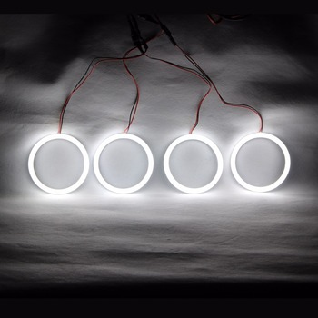 Angel Eyes Cotton LED Light Headlights Running Light DRL Turn Light For BMW E30 E32 E34 E92 E46 Cabrio E46 Coupe 2D (2004+) image