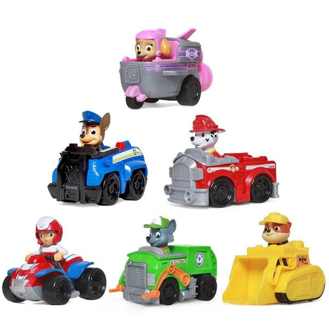 US $8 51 29% OFF|Paw Patrol dog Puppy Patrol car Patrulla Canina toys Chase  marshall ryder Vehicle Car kids toy Genuine -in Action & Toy Figures from