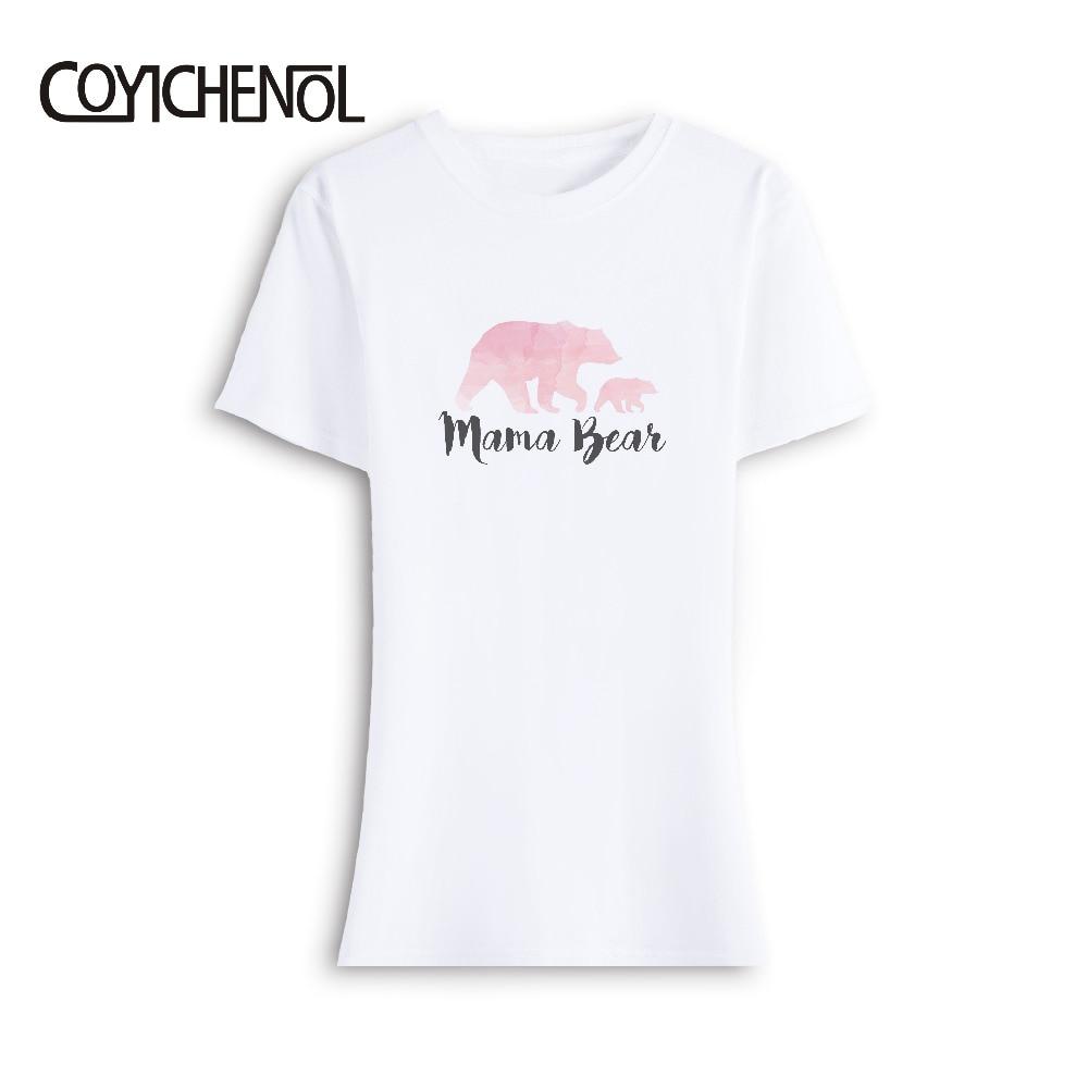 MAMA Bear customize tshirt Modal funny design print tshirt women short sleeves tops casual print tee summer solid color Shirt