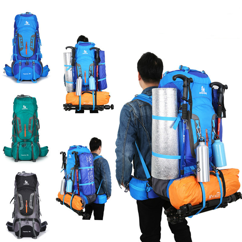 Large 80L Waterproof Travel Backpack Camp Hike Mochilas Masculina Laptop Daypack Trekking Climb Back Bags For Men Women 2017