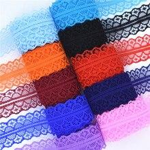 Высокое качество 10 метров кружево, лента, тесьма Ширина 28 мм Отделка ткани своими руками, вышитое Тюлевое шнур для шитья украшения в африканском стиле кружевная ткань