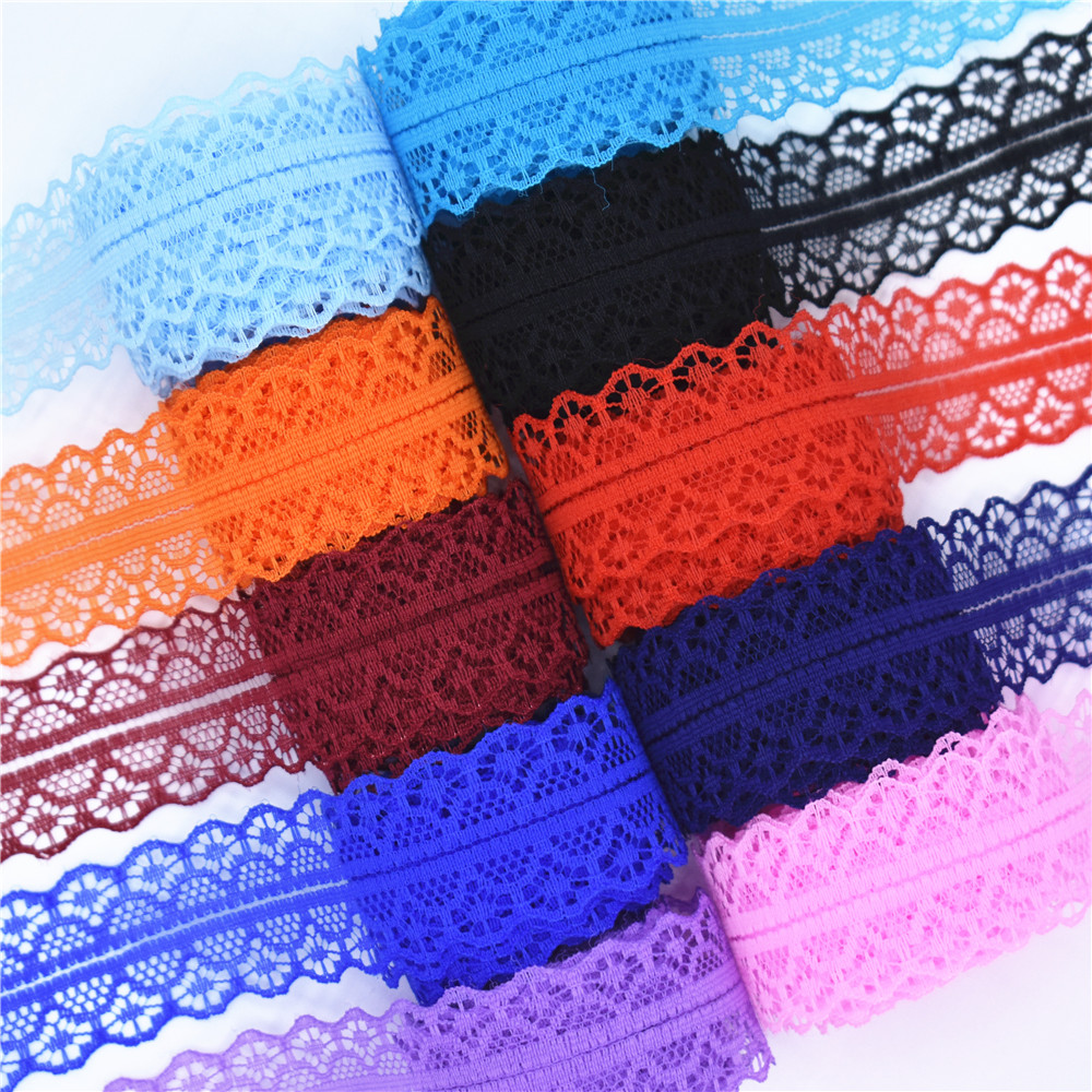 High quality 10 yards Lace Ribbon Tape Width 28MM Trim Fabric DIY Embroidered Net Cord For Sewing Decoration african lace fabric lace trim embroidered smock top