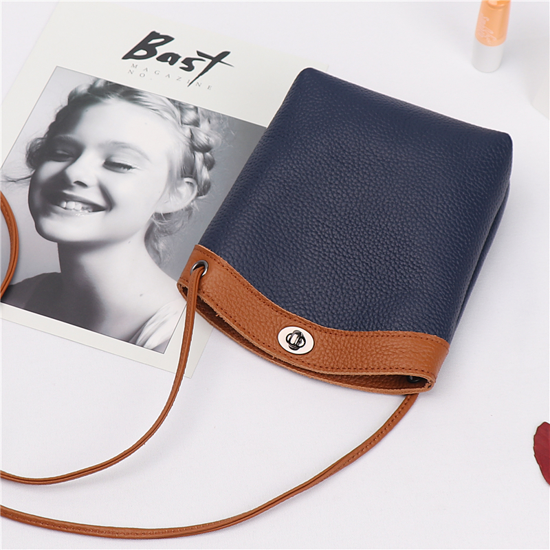 Teenage Messenger Bag 2018 New Simple Korean version of the wind school wind  mini leather female wild mobile phone bag 98079e22a3