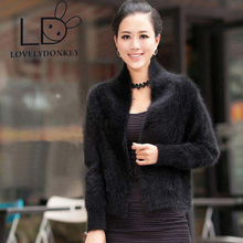 LOVELYDONKEYThe woman's real mink cashmere sweater cardigan short sweater coat  shawl coat free shipping M193