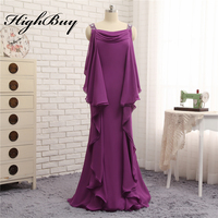 Elegant Long Casual Chiffon Mother Of The Bride Groom Dresses Beaded Spaghetti Strap Mother Dress Prom