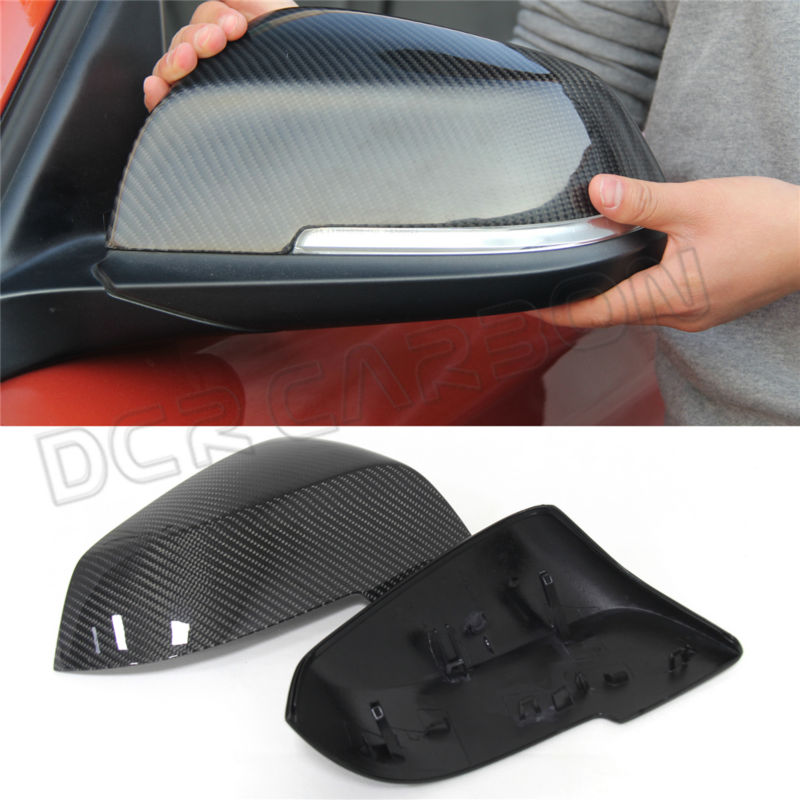 ФОТО Full replacement carbon fiber car mirror cover set for BMW X SERIES X1 E84 mirror cover 2014 - on