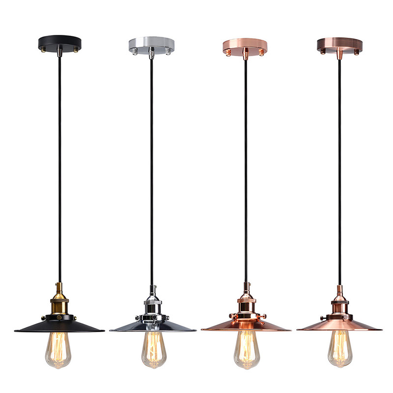 Lamp Cover Vintage Antique Ceiling Metal Edison Pendant Ceiling Light Holder Lighting Bulb Chandelier Lamp Shade Wall Light brass cone shade pendant light edison bulb led vintage copper shade lighting fixture brass pendant lamp d240mm diameter ceiling
