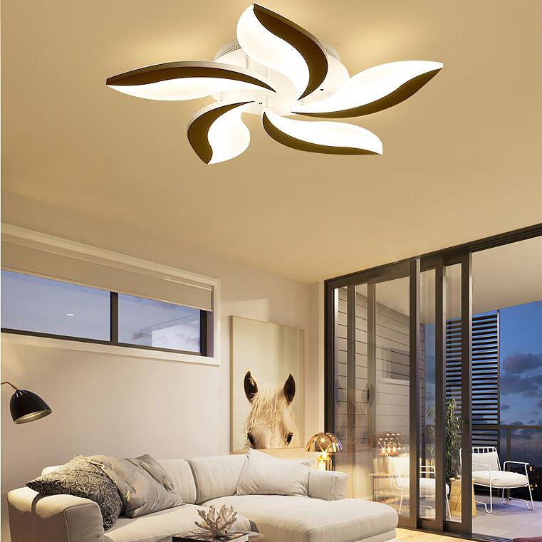 Mellifluous Acrylic Modern led ceiling lights for living room bedroom dining room home Double color 5