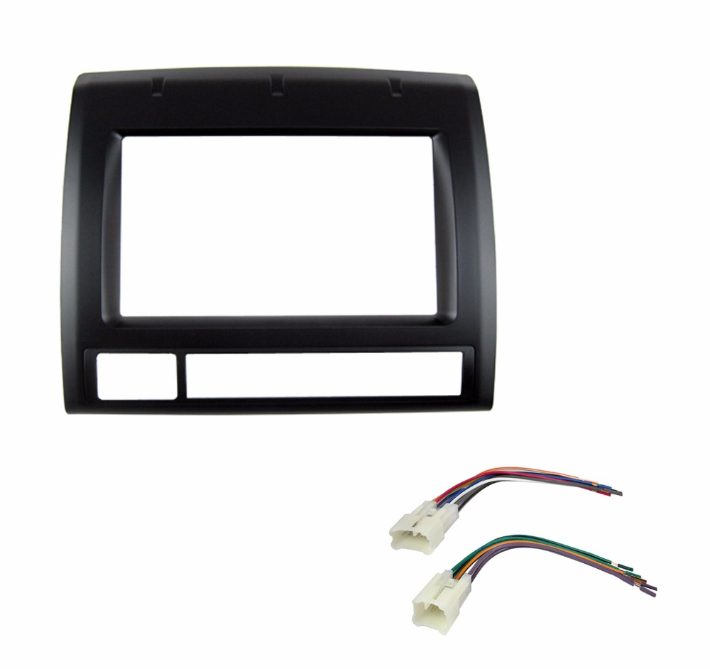 Double Din Car Radio Facia Harness For Toyota Tacoma 2005 Dash Kit Wire Dvd Fitting Stereo Cd Panel Trim Fascia Face Plate Frame In Fascias From Automobiles