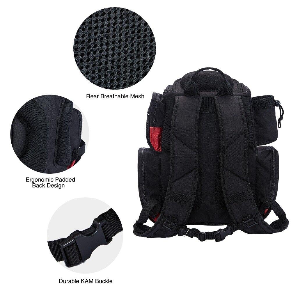 Piscifun Fishing Tackle Backpack Waterproof Tackle Bag Trays Storage Outdoor Fishing Bag Protective Rain Cover(no tackle boxes) - 5