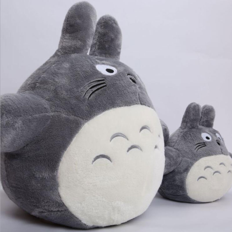 CXZYKING 35CM Totoro Plush Toys Famous Cartoon Totoro Plush Dolls Soft Stuffed Toys Cushion High Quality Doll 25cm cartoon totoro legume plush toys kids toys new style totoro pillow cushion cloth doll birthday gift big pendant