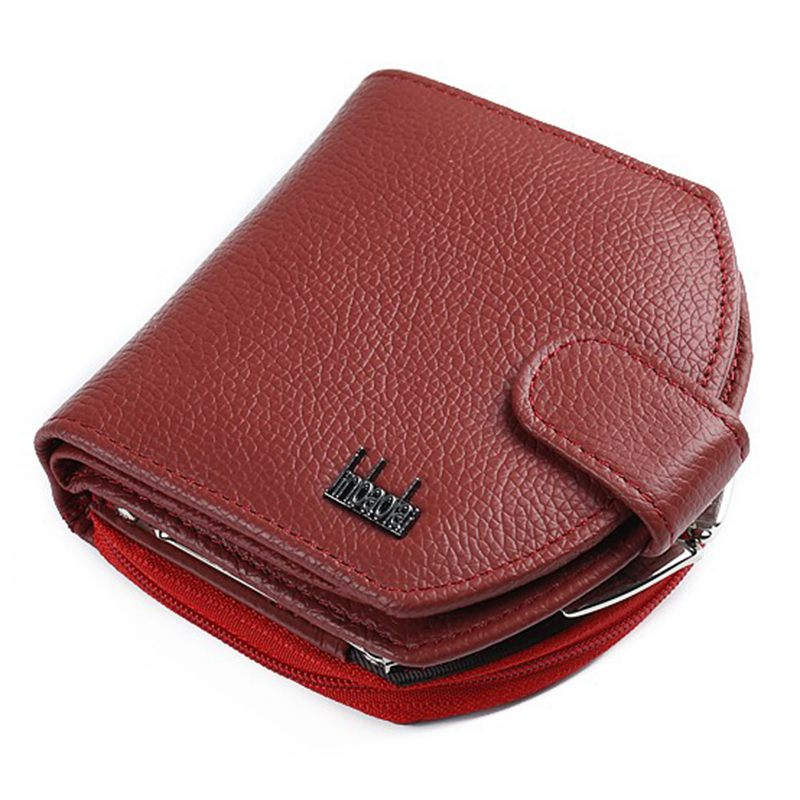 FGGS-JINBAOLAI Zipper Lady Coin Holder Female Women Purse Luxury Brand Famous Designer Money Bag Vallet (red) ...