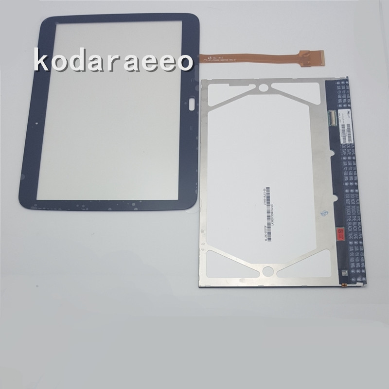 Kodaraeeo For Samsung Galaxy Tab 2 10.1 GT-P5100 P5100 Touch Screen Digitizer+LCD Display Monitor Repair Replacement Part replacement digitizer touch screen for dual sim samsung galaxy gt i9082 white
