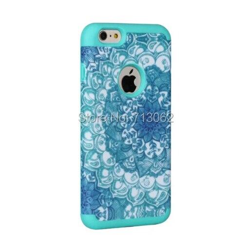 2 in 1 Mandala Flower Phone Cases For iPhone 7 Hard & Soft