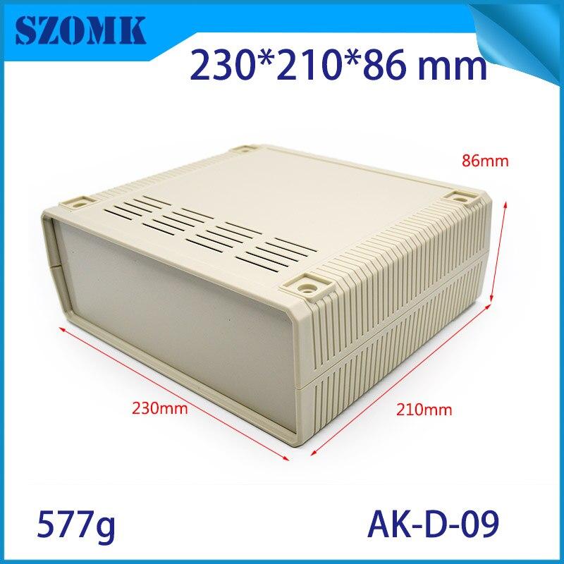 (1 pcs) 230*210*86mm szomk électronique en plastique projet cas abs enceinte boîte en plastique électronique cas abs boîte électronique