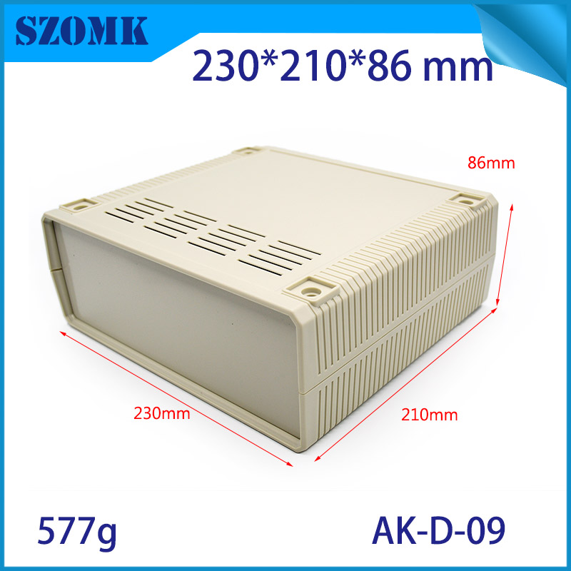(1 pcs) 230*210*86mm szomk electronics plastic project case abs enclosure box plastic electronic case abs box electronics