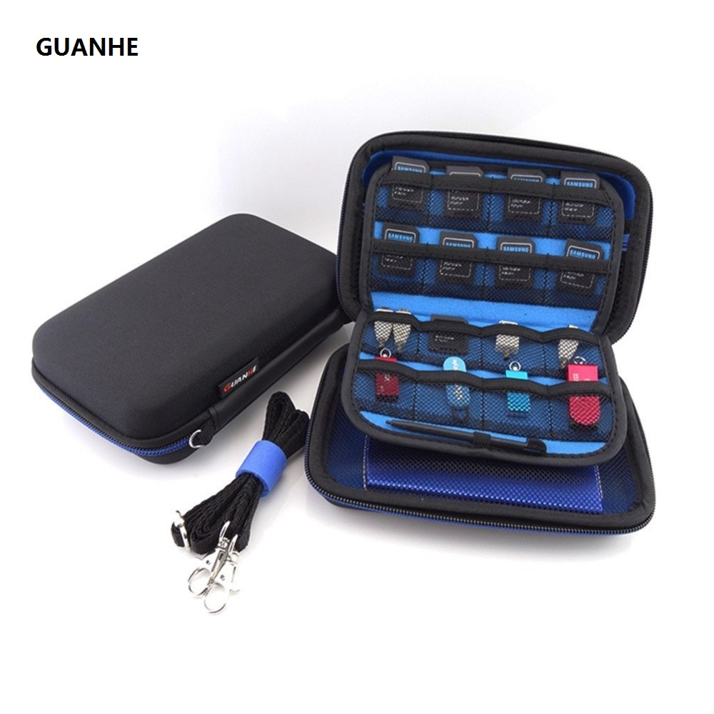 GUANHE 2.5 inch SSD HDD hard drive bag Earphone Cable USB Flash Drive Travel Case Digital Bag For Nintendo New 3DS XL/3DS