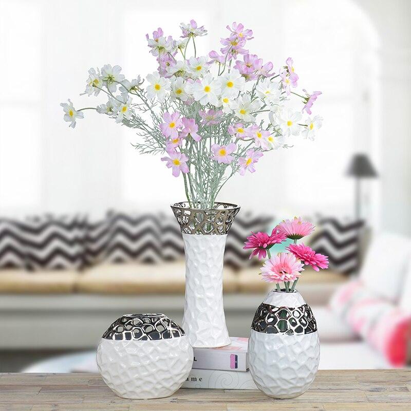 cubo de agua hidropnico florero de porcelana creativa simple moderna tv gabinete decoracin florero para la