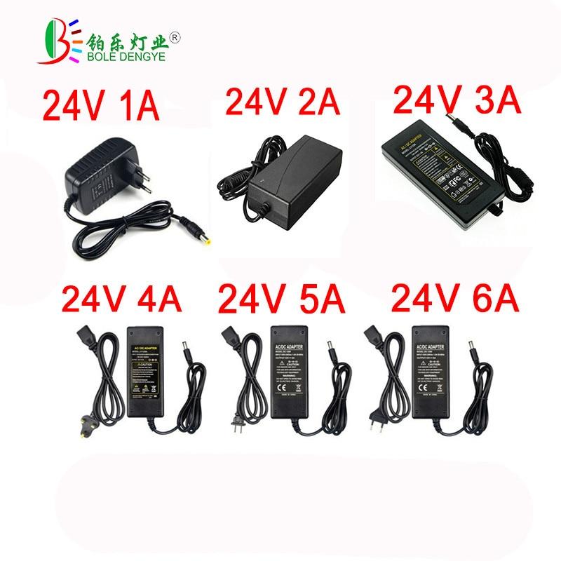 2018 heißer Verkauf 24 v Transformator AC 100/240 v zu 24 v 1A 2A 3A 4A 5A 6A netzteil EU UNS Adapter Für 24 v 5050 3528 Led Streifen Lampe