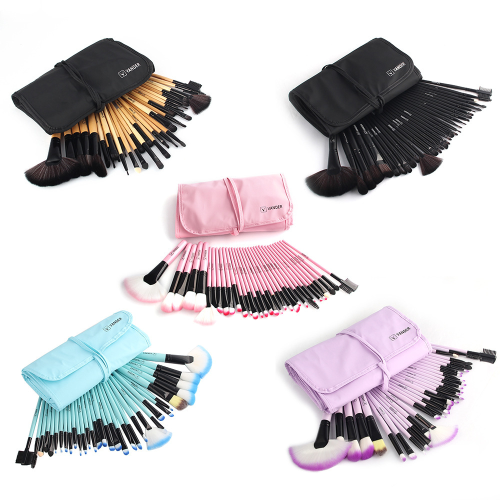 5Sets  VANDER 32Pcs/Set Professional Makeup Brush Foundation Eye Shadows Lipsticks Powder Make Up Brushes Tools w/ Bag pincel ma